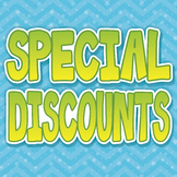 {SPECIAL DISCOUNTS} ITEMS 50% OFF