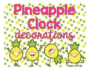 Pineapple Clock Decorations
