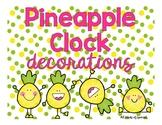 Pineapple Clock Decorations