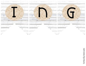 """""""SPELLING"""" White Wood / Shiplap and Burlap Lace: Focus Wall Pennant / Banner"""