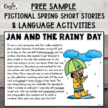 {SPRING FREEBIE} Fictional Spring Stories: Comprehensive Language Sample Pack