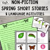 {SPRING} Non-Fiction Short Stories + Language Activities!