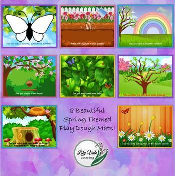 **SPRING Themed PLAYDOUGH MATS- from LilyVale Learning**