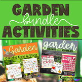 Garden Themed Calendar Pieces, Vocabulary, and Games Bundle