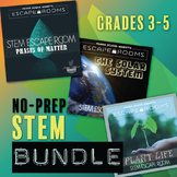 BUNDLE No-Prep STEM Escape Rooms - 3rd 4th 5th grade Scien