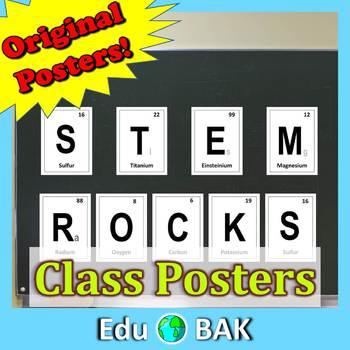 """STEM Rocks"" Periodic Elements Posters - Great Classroom Decor"