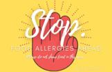 """""""STOP: Food Allergies Ahead"""" printable sign"""