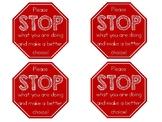 """Please STOP"" - Stop Sign Non-Verbal Behavior Cards"