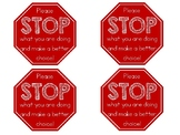 """Please STOP"" - Stop Sign Non-Verbal Behavior Cards"