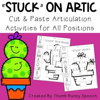 """STUCK"" ON ARTIC - Cut & Paste Articulation Activities"