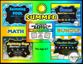 **SUMMER MATH GAME BUNDLE** From LilyVale Learning