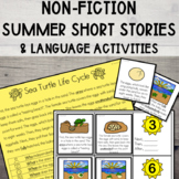 {SUMMER} Non-Fiction Short Stories + Language Activities!