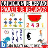 *SUPER Deal* 13 Math & Literacy Summer BOOM Cards in Spani