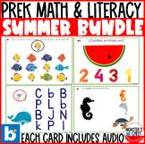 *SUPER Deal* 13 Math & Literacy Summer Boom Cards for Pre-