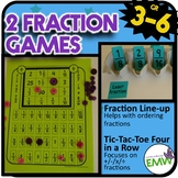 2 Fraction Games for ordering adding subtracting multiplying and dividing