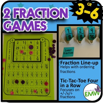 2 Fraction Games (for ordering/adding/subtracting/X/÷)