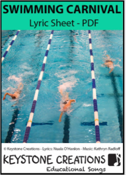 'SWIMMING CARNIVAL' (K-6) ~ Lyrics, outcomes & suggested activities