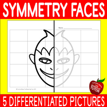 {SYMMETRY FACES} {LINES OF SYMMETRY} {SYMMETRY DRAWING}
