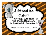 """Safari Subtraction"" Three-Digit Subtraction With & Withou"