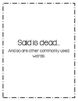 """""""Said is Dead"""" Commonly Used Word Synonyms"""