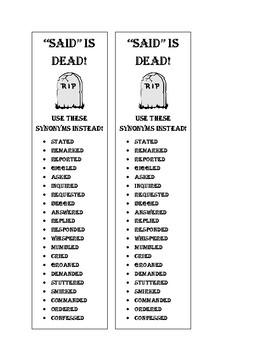 """Said is dead"" Bookmark"