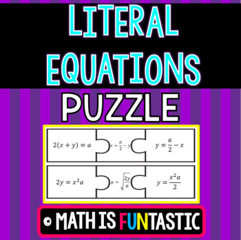 Literal Equations Puzzle