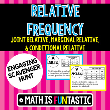Relative Frequency Scavenger Hunt (Joint, Marginal, & Cond