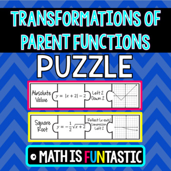 Transformations of Parent Functions Puzzle