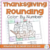 Thanksgiving Color by Number Rounding