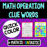 Math Operations Clue Words Quick Color
