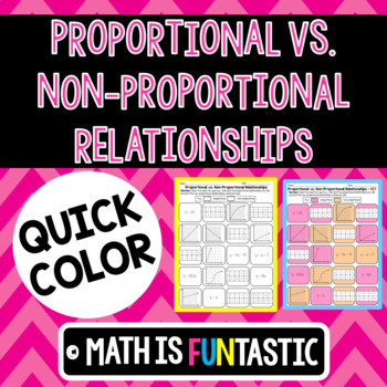 Proportional vs. Non-Proportional Relationships Quick Color
