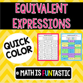 Equivalent Expressions -Distributive Property & Combining