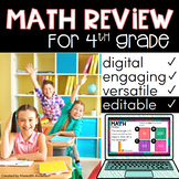 4th Grade Math Test Prep, Review, Practice Distance Learning