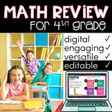 4th Grade Math - Digital & EDITABLE for practice, test pre
