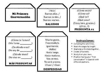 ¡Saludos! First Conversation in Spanish Flip Book