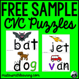 *Free Sample* Beginning Sound CVC with picture matching activity