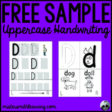 *Free Sample* Uppercase Handwriting Pages- Mister Smith Le