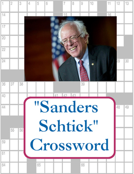 """Sanders Schtick"" Crossword Puzzle"