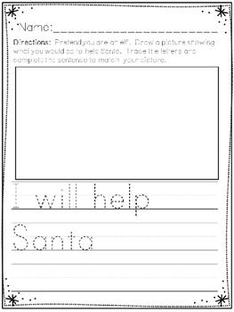 """Santa's Elves"" Emergent Reader (A Christmas/December Dollar Deal)"