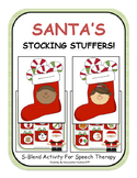 {Santa's Stocking Stuffers} S-Blend Activity for Speech Therapy SLP