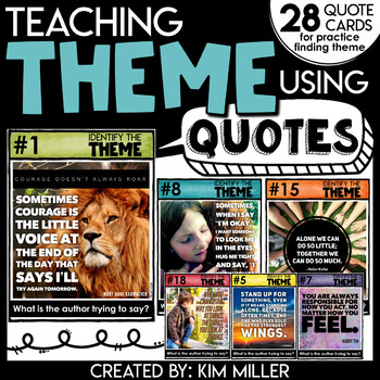 Teaching Theme Using Quotes