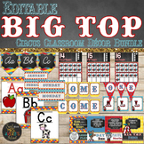 Circus Theme Classroom Decor Bundle Editable