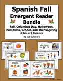Spanish Fall Emergent Readers Booklet Bundle - 6 Sets of 2 Booklets