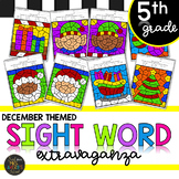 Fifth Grade Sight Word Color by Code Christmas Activities for December