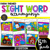 Color by Sight Word | Farm Activities | Fifth Grade Sight Words