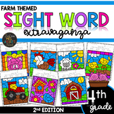 Color by Sight Word | Farm Activities | Fourth Grade Sight