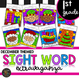 First Grade Sight Word Color by Code Christmas Activities for December