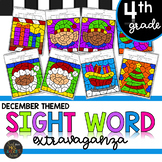 Fourth Grade Sight Word Color by Code Activities for December