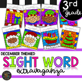 Third Grade Sight Word Color by Code Christmas Activities for December