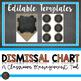 Burlap Dismissal Chart - Editable